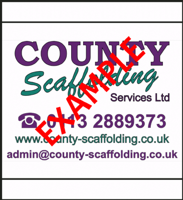 "Scaffolding Banner ""Single Sided"" (1220mm x 1220mm)"